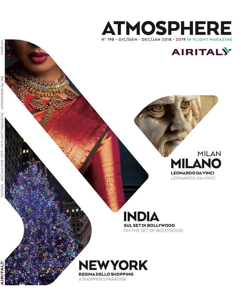 """Prendiamo il Volo! Eccoci sulla rivista di bordo """"Atmosphere"""" della compagnia aerea internazionale Airitaly"""