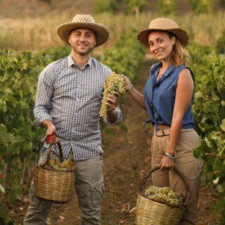 Giacomo e Flavia, due giovani rampanti della quarta generazione di produttori della famiglia Rallo, sono pronti per questa nuova vendemmia che si svolgerà dapprima a Marsala e successivamente sull'Etna. 👨👩👧👦🍷☀️ . Si prospetta una annata meravigliosa 🍇✌ . Ph. @nadia_b_world . 🍷Vini 🌊 mari 🌋 vulcani _______________________________ www.marchesedellesaline.com . #organic #natural #wines #marsala #instafood #italy #wine #vino #winelover #winery #winelovers #instawine #vinho #vin #whitewine #winestagram #winecountry #wein #winelife #winegeek #winemaker #naturalwine #vinoitaliano #harvest #italianwines #summer #vendemmia #grillo